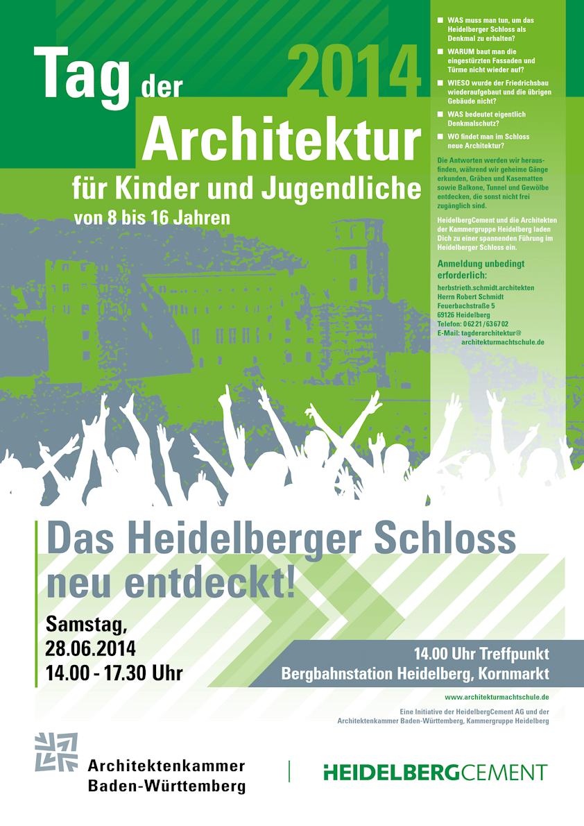 Tag der Architektur für Kinder und Jugendliche 2014 Plakat
